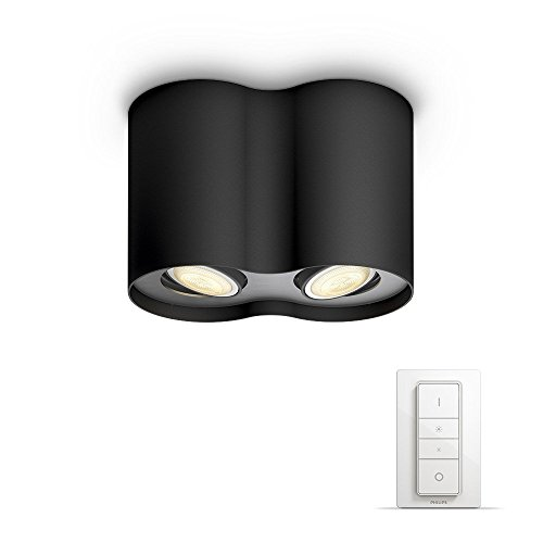 Philips Lighting Dimmer Switch Included Pillar Double Spotlight Hue White Ambiance Faretto...