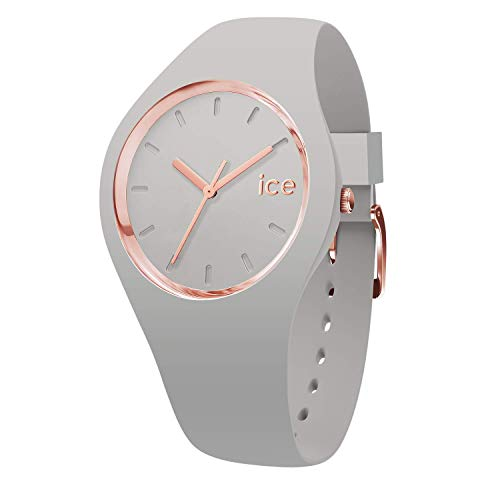 Ice-Watch - ICE glam pastel Wind - Graue Damenuhr mit Silikonarmband - 001066 (Small)