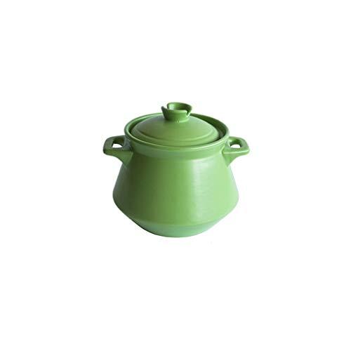 SHYOD Cacerola de cerámica olla de piedra olla de sopa de gas para el hogar, olla de sopa de cocina, olla de arcilla para el hogar (color: verde)