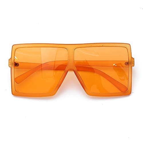 Burenqi@ Vierkante Oversized Zonnebril Dames Designer Hot Sale Rood Blauw Kleine Randloze Vintage Herenbrillen Uv400