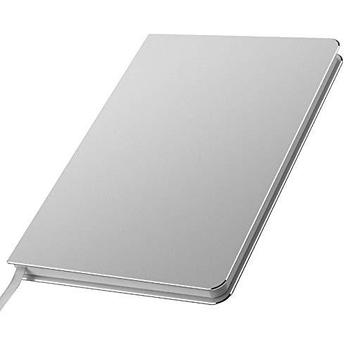Aluminium Notebook Journal Notebook Gebundene Ausgabe und stilvolles kleines Metall-Notizbuch aus Metall für Büro- und Tagesnotizen