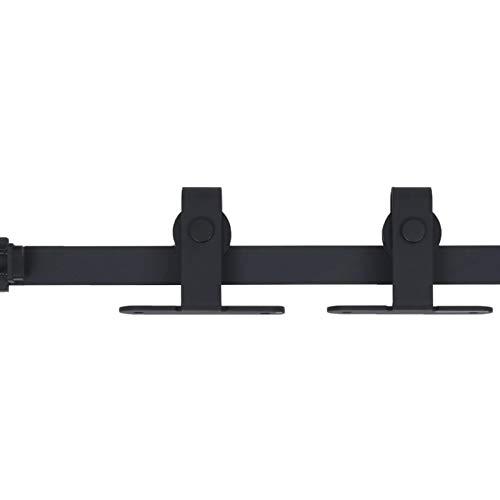 Tidyard Skjutdörrsbeslag skjutdörrsystem gångskena skjutdörrbeslag för skjutdörr hängskena tillbehör kolstål 152 cm (maximal lastkapacitet: 20 kg)