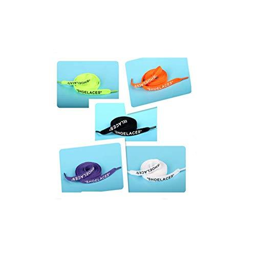 5 Paar Schnürsenkel, 150 cm, Buchstaben, Basketballschuhe, Halbkreis, Englisch, flach, einfarbig, Gurtband, Leinenschuhe, Sneaker, Farbe