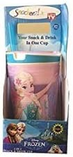 Snackeez Jr. Disney Frozen Snack and Drink Cup (Pack of 1 Cup, Colors and Designs Vary)