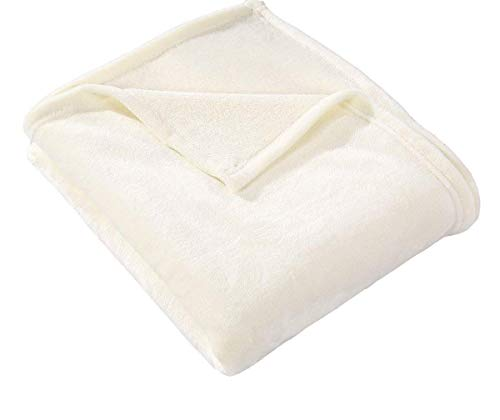 Charisma Plush Queen Size Blanket IVORY