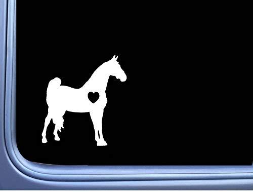 DKISEE Sticker Morgan Lil Hart Sticker Paard Rescue Window Decal Laptop Vinyl Decal Venster Muursticker Auto Sticker 5 inch Onecolor