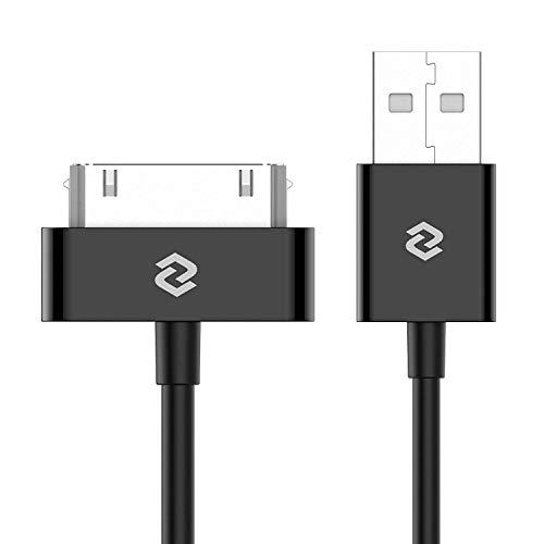 JETech USB Kabel kompatibel mit iPhone 4s, iPhone 4, iPhone 3G/3GS, iPad 1/2/3, iPod, 1m, Schwarz