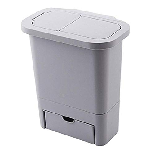 Wdonddonljt Gabinete de Cocina Puerta Colgando Bote de Basura con Tapa de Pared cestos de Basura Flexiones de la Parte Superior de la Basura Cubo de Basura de casa Pueden Basura de contenedores