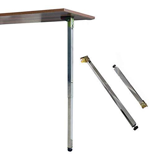 ZAZAP-1 Klappbare Tischbeine, Höhenverstellbare Möbelbeine, Küchentischbeine Teleskopfüße, Edelstahl-Stützfüße, Geeignet Für DIY-Möbel, Arbeitsplatten, Klapptische, Bürotische