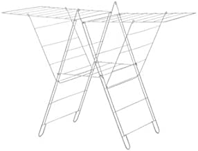 Best Homes Foldable Indoor and Outdoor Cloth Drying Stand, Steel, White