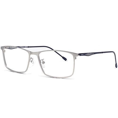 HQMGLASSES Männer Anti-blaues Licht aus Reiner Titan 1,61 Refraktion High-Definition-Lesebrille, ermüdungs rechteckige Geschäft Brillen Dioptrie +1,0-+3,0,04,+1.0