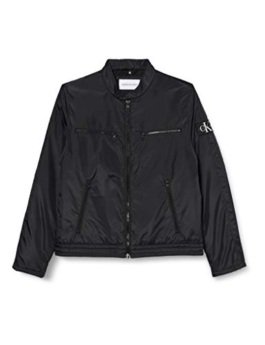 Calvin Klein Padded Moto Jacket Chaqueta, CK Black, XXL para Hombre