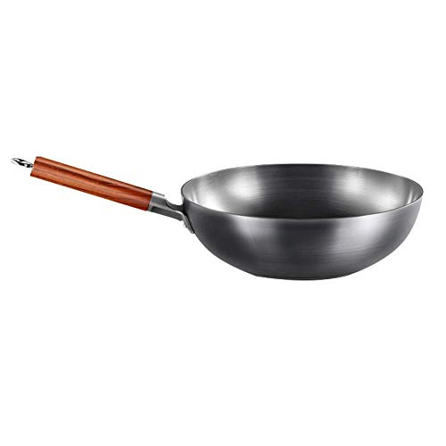 ZXYY 32cm stainless steel cast iron skillet for all heat sources including flat bottom induction cookware with handle compatible stove oven bonfire