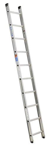 Werner D1510-1 300-Pound Duty Rating Aluminum Flat D-Rung Extension Ladder, 10-Foot