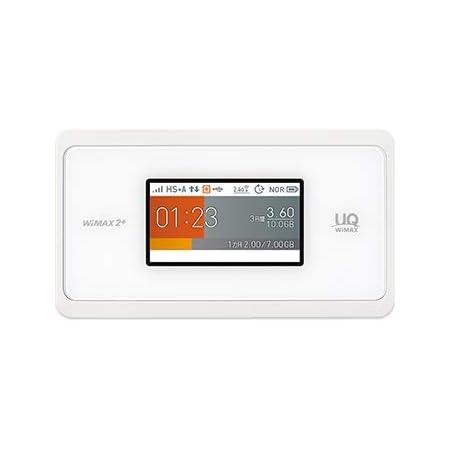 UQ WiMAX モバイルルーター Speed Wi-Fi NEXT WX06 Wi-Fi 2.4GHz/5GHz同時利用 (ホワイト)