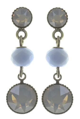 KONPLOTT Chameleon Ohrstecker, Glas blau - 5450543720739