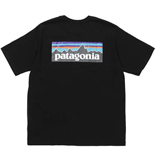 [パタゴニア] P-6ロゴ レスポンシビリティー バッグロゴプリント Tシャツ P-6 LOGO RESPONSIBILI-TEE メンズ ブラック M(USサイズ) [並行輸入品]