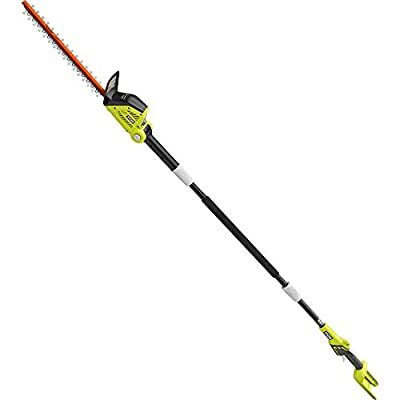 RYOBI RY40603BTL 18 in. 40-Volt Lithium-Ion Cordless Pole Hedge Trimmer (Tool-Only)