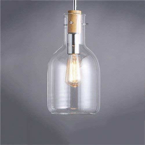 Botella De Vino Tinto Creativa Vidrio Lámpara Colgante De Una Sola Cabeza...