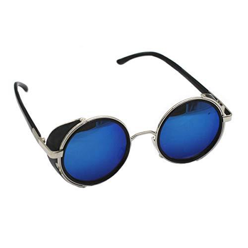 Mirror Lens Steampunk Sunglasses