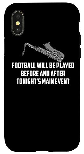 iPhone X/XS Funny Football Played Main Event | Cute Saxophonist Gift Case