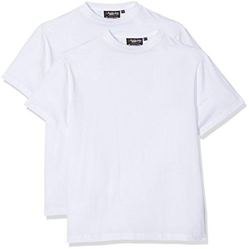 REPLIKA JEANS Herren T-Shirt 99110 2er Pack, Weiß (White 0000), X-Large (Herstellergröße: US-L)