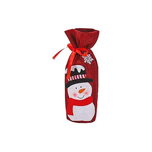 chaosong shop Bolsas de vino con cordones de Papá Noel, bolsas de vino, bolsas de regalo, bolsas de botella reutilizables, perfectas para viajes, bodas, cumpleaños y cenas