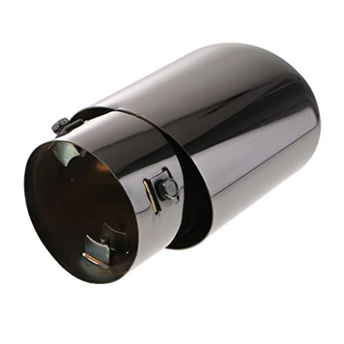 Universal Punta Silenciador de Cola Extractor Tubo de Escape Accesorios para Coche - Negro