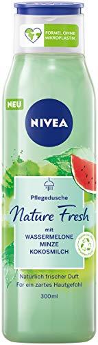 NIVEA Nature Fresh Pflegedusche Wassermelone (300 ml) mit einer Formel ohne Mikroplastik, vegane Duschpflege mit fruchtigem Duft