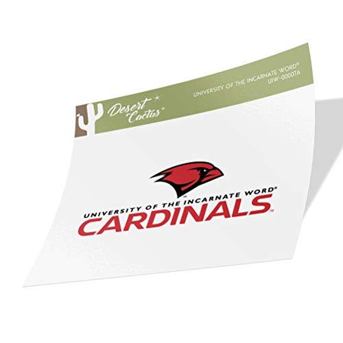 University of The Incarnate Word UIW Cardinals NCAA Vinyl Decal Laptop Water Bottle Car Scrapbook (Sticker - 00007A)