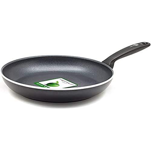 GreenPan Pfanne Bratpfanne Induktion Keramik Beschichtet, Toxinfreies Kochen, Ofen- und Spülmaschinengeeignet - 28 cm, Schwarz