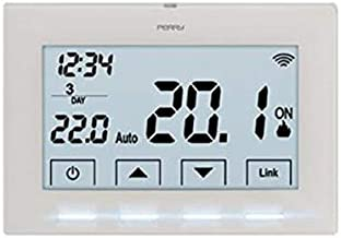 Perry 1TXCR028WIFI - Cronotermostato inalámbrico para Caldera, 3 V, controlable Directamente Desde Smartphone, Blanco