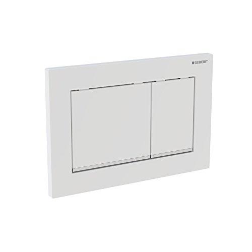 Abdeckplatte / Betätigungsplatte Omega30 115080KN1 | für 2-Mengen-Spülung, zur Spülauslösung bei Geberit Omega UP-Spülkasten, Betätigung von oben oder von vorne | Maße: 21 x 14 1 cm