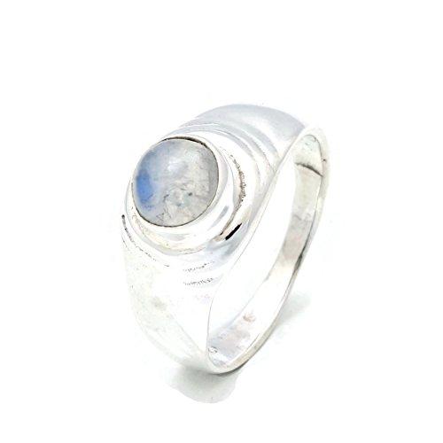 Mondstein Ring 925 Silber Sterlingsilber Damenring weiß (MRI 132-04), Ringgröße:56 mm/Ø 17.8 mm