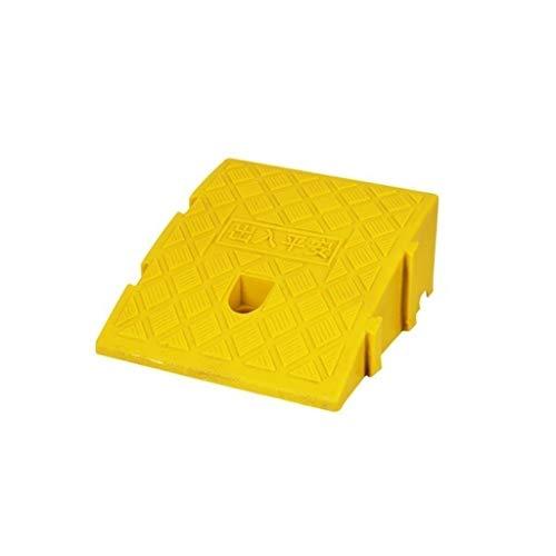 Rampen für Rollstühle, Terrassen-Rampen an der Tür, leichter Kunststoff, für den Innenbereich, Babywagen, Roller, Bergauflage, Höhe: 7 cm/11 cm/13 cm, praktisch (Farbe: Gelb, Größe: 25 x 27 x 11 cm)