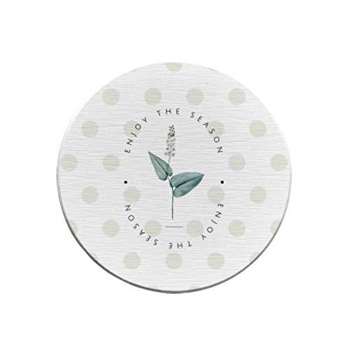 JIAYAN Vente en gros Feuille verte Diatomite absorbant séchage rapide tampon de lavage de table sous-verre Dent tasse savon pad antidérapant tapis de table personnalisé Logo,Y-357,4pcs
