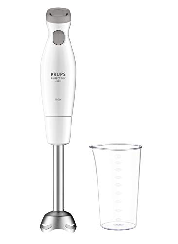 Krups Perfect Mix 4000 HZ451110 Mixeur plongeant 450 800 ml Blanc/gris clair