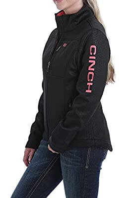 Cinch Women's Embossed Bonded Concealed Carry Jacket, Black, L