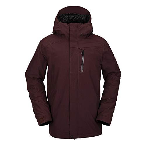 Volcom Mens L Gore-Tex Jacket, Black Red, M