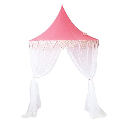 XZGang Pink Dome Tent, Girl's Bed Tent/Met Mesh Curtain Design/Geschikt for Corner en Bedside Installatie Ruimte voor kinderen (Color : Pink, Size : 150 * 70cm)