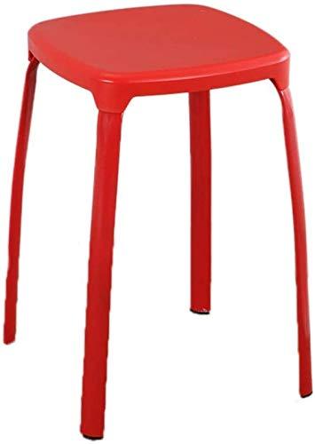 Taburete de estudiante, grueso y resistente, de plástico, antideslizante, fácil de limpiar, taburete de comedor, silla de jardín (color: Re'd) JoinBuy.R