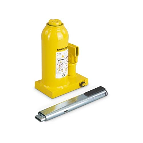 Enerpac GBJ010A Hydraulic Industrial Bottle Jack   11 Ton Capacity   5.91 Inch Stroke   Overload Safety Relief Valve