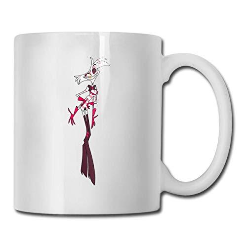 Jard-T Angel Dust Hazbin Hotel Taza de café Ceramic Tea taza Unique Gift Suitable for Women Men Office Home Large Handle Mugs 11 Oz White