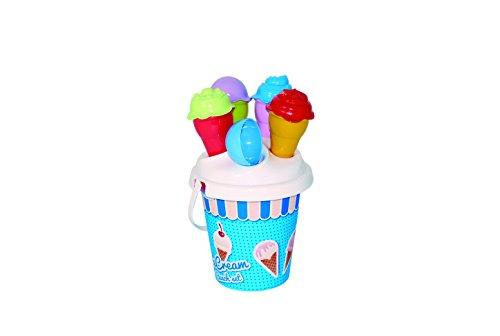 Adriatic 16x 25cm beach Toys Eimer Set mit 1Schaufel und 4Eis Becher, Farblich sortiert