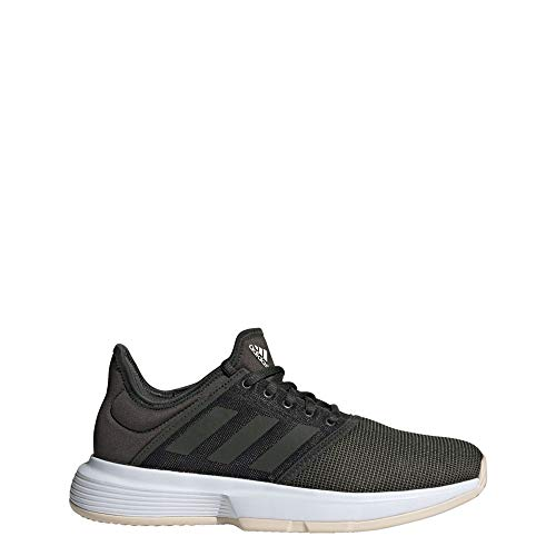adidas Game Court Allcourtschuh Damen-Khaki, Zapatillas de Tenis, Mujer, Negro/Beige, 42 2/3 EU
