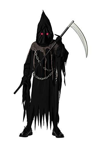 Bad Bear Brand Grim Reaper Deluxe Halloween Costume for Kids Teens Tweens Boys Black