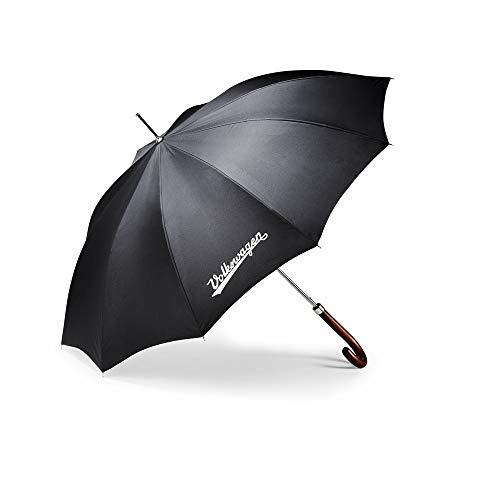 Volkswagen 311087600 paraplu stokscherm houten handvat klassieke collectie scherm, zwart