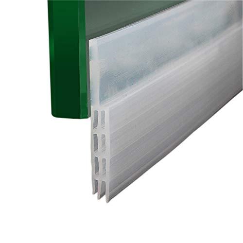 Scopri offerta per Door Draft stopper Door sweep Brush triple-fin autoadesiva in silicone 99,1cm lunghezza facile da tagliare moderno 39'' x 2'' Clear