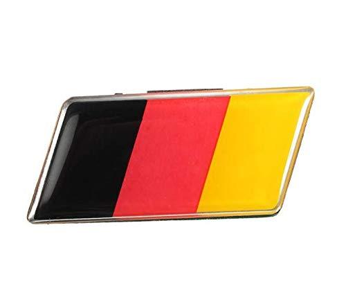 YONGYAO Aluminium Deutsch Deutschland Fahnen Abzeichen Grille Emblem Autoaufkleber Decal Universal Decoration