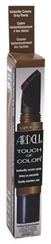 Ardell Touch Of Color Instant Gray Root Cover Applicator Brush - Light Brown by American International